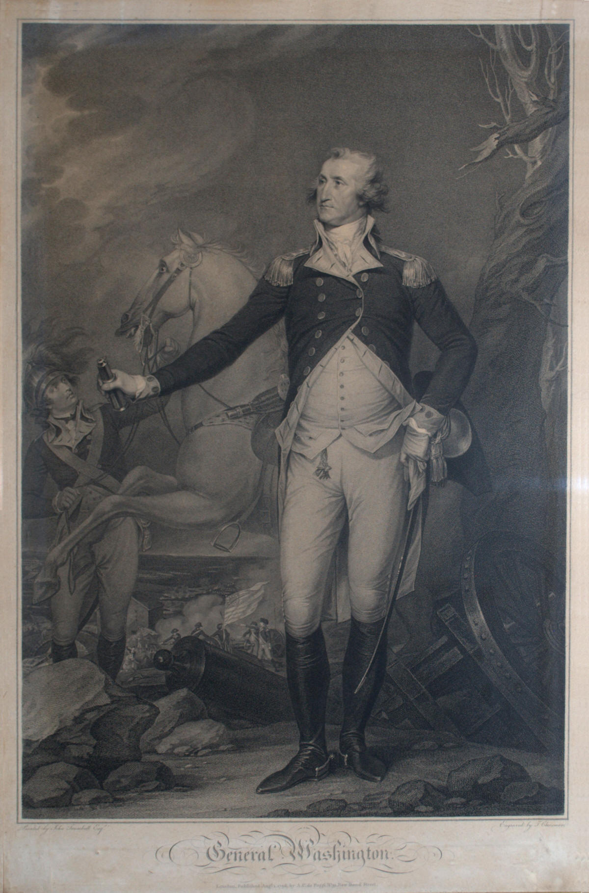 George Washington engraving after John Trumbull