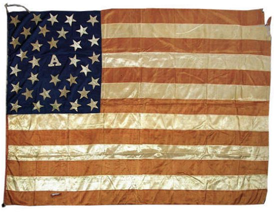 34 Star Civil War Battle Flag