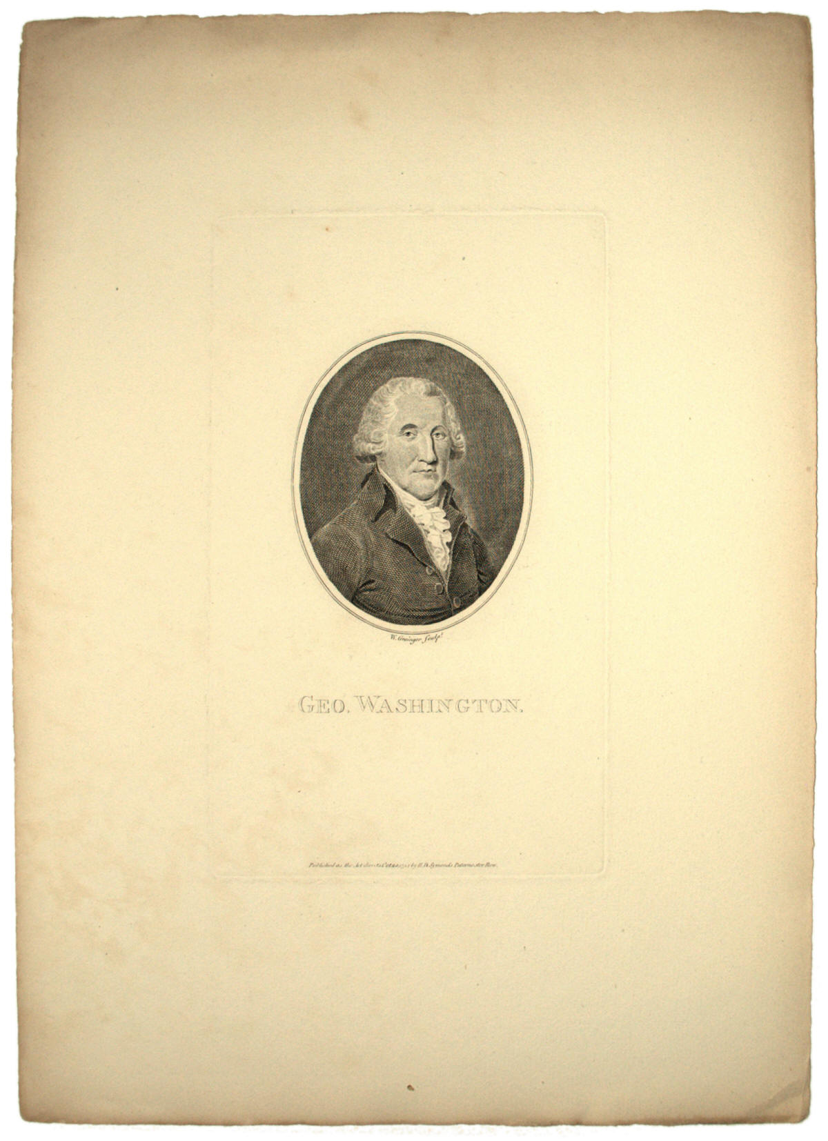 George Washington engraving by Grainger after Robertson