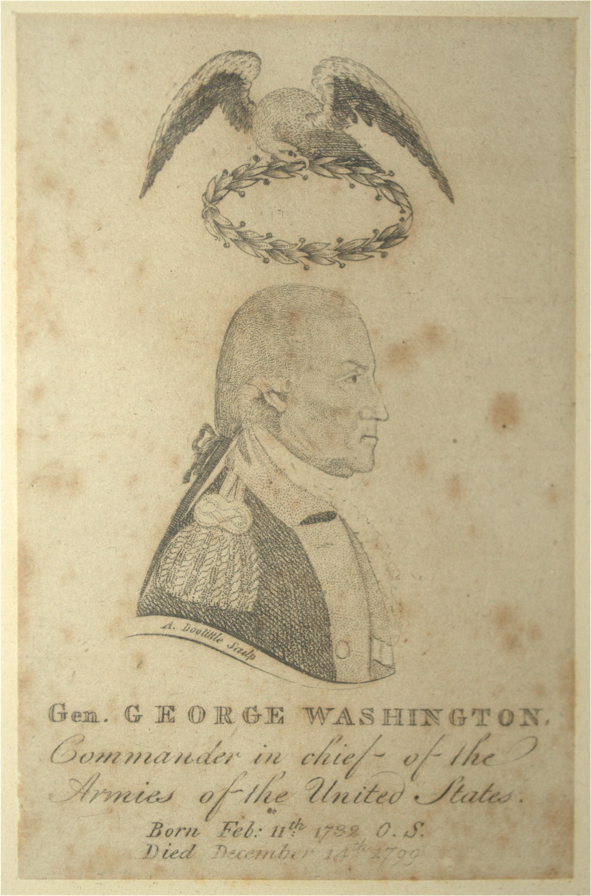 George Washington engraving by Amos Doolittle