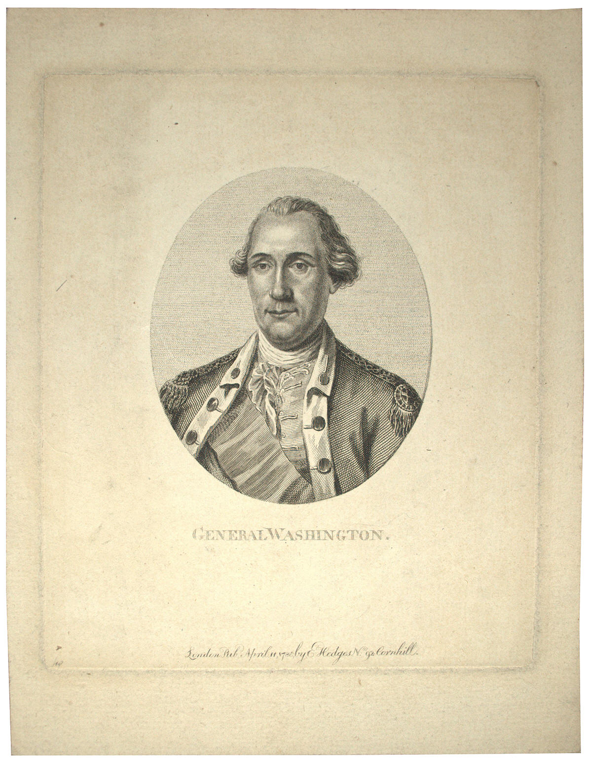 George Washington engraving after Charles Willson Peale